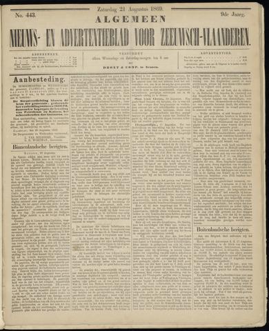 Ter Neuzensche Courant. Algemeen Nieuws- en Advertentieblad voor Zeeuwsch-Vlaanderen / Neuzensche Courant ... (idem) / (Algemeen) nieuws en advertentieblad voor Zeeuwsch-Vlaanderen 1869-08-21
