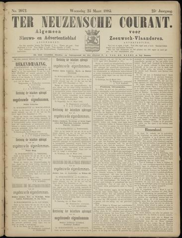 Ter Neuzensche Courant. Algemeen Nieuws- en Advertentieblad voor Zeeuwsch-Vlaanderen / Neuzensche Courant ... (idem) / (Algemeen) nieuws en advertentieblad voor Zeeuwsch-Vlaanderen 1885-03-25