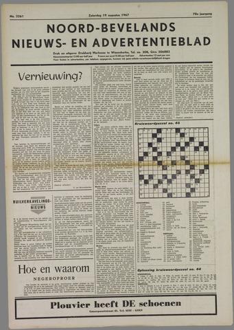 Noord-Bevelands Nieuws- en advertentieblad 1967-08-19