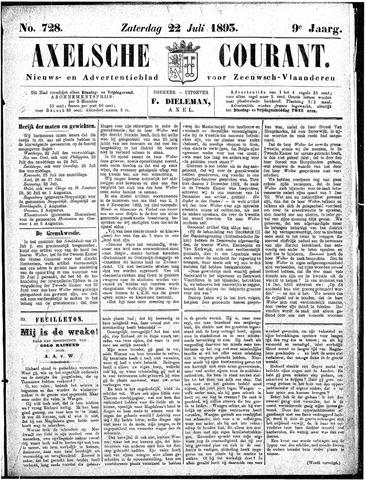 Axelsche Courant 1893-07-22