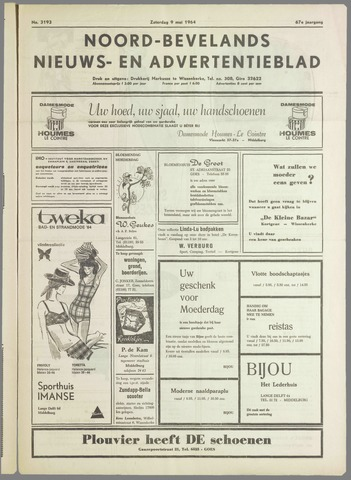 Noord-Bevelands Nieuws- en advertentieblad 1964-05-09