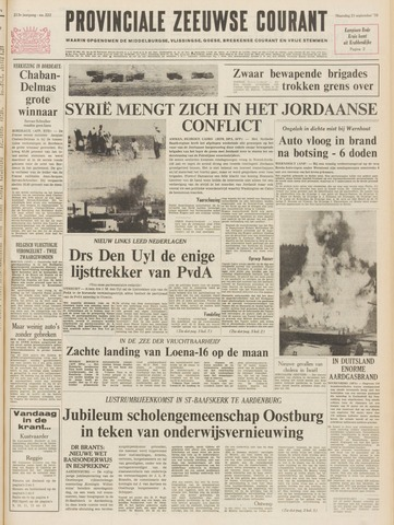 Provinciale Zeeuwse Courant 1970-09-21