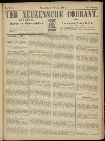 Ter Neuzensche Courant. Algemeen Nieuws- en Advertentieblad voor Zeeuwsch-Vlaanderen / Neuzensche Courant ... (idem) / (Algemeen) nieuws en advertentieblad voor Zeeuwsch-Vlaanderen 1894-10-31