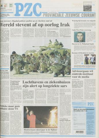 Provinciale Zeeuwse Courant 2003-03-18