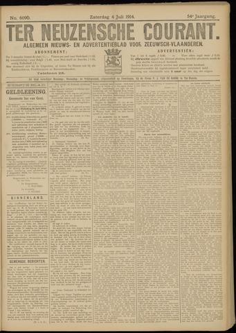 Ter Neuzensche Courant. Algemeen Nieuws- en Advertentieblad voor Zeeuwsch-Vlaanderen / Neuzensche Courant ... (idem) / (Algemeen) nieuws en advertentieblad voor Zeeuwsch-Vlaanderen 1914-07-04