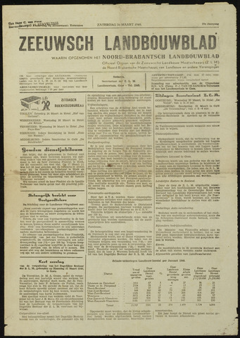 Zeeuwsch landbouwblad ... ZLM land- en tuinbouwblad 1949