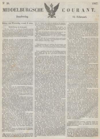 Middelburgsche Courant 1867-02-14