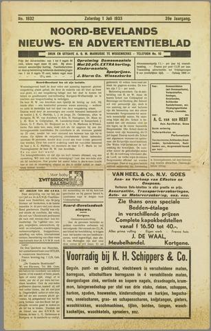 Noord-Bevelands Nieuws- en advertentieblad 1933-07-01