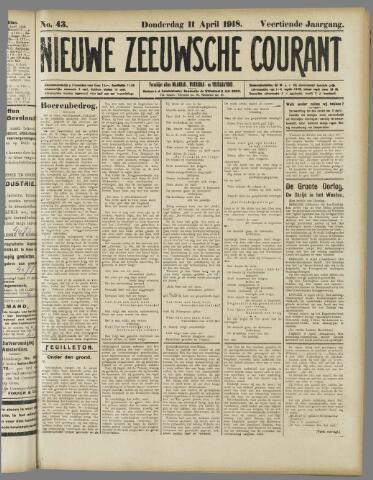 Nieuwe Zeeuwsche Courant 1918-04-11