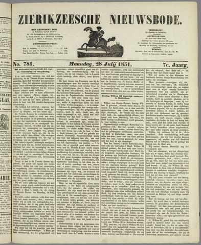 Zierikzeesche Nieuwsbode 1851-07-28