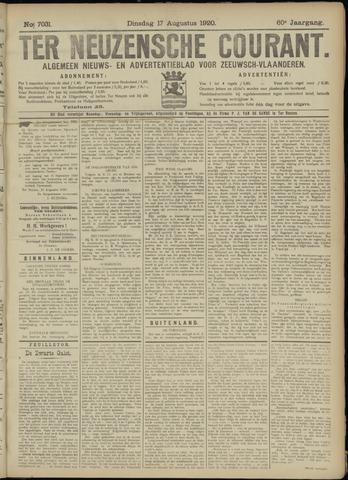 Ter Neuzensche Courant. Algemeen Nieuws- en Advertentieblad voor Zeeuwsch-Vlaanderen / Neuzensche Courant ... (idem) / (Algemeen) nieuws en advertentieblad voor Zeeuwsch-Vlaanderen 1920-08-17