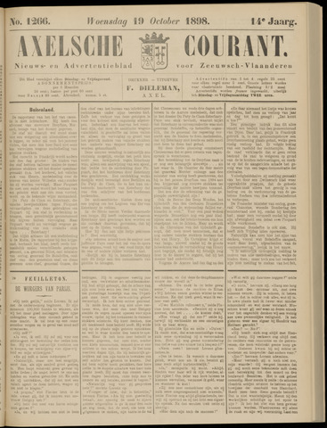 Axelsche Courant 1898-10-19