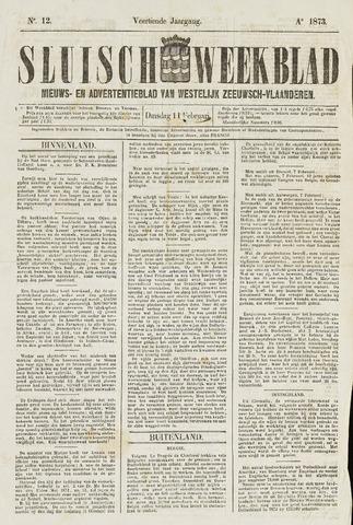Sluisch Weekblad. Nieuws- en advertentieblad voor Westelijk Zeeuwsch-Vlaanderen 1873-02-11