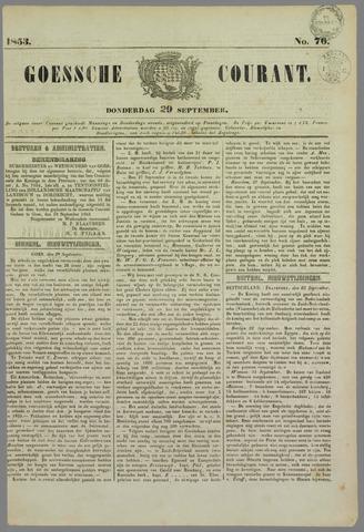 Goessche Courant 1853-09-29