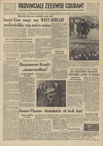 Provinciale Zeeuwse Courant 1958-11-28