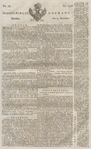 Middelburgsche Courant 1758-12-23