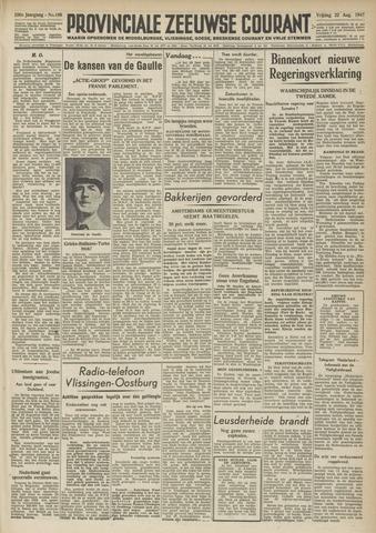 Provinciale Zeeuwse Courant 1947-08-22
