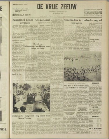 de Vrije Zeeuw 1961-12-28
