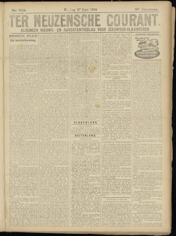 Ter Neuzensche Courant. Algemeen Nieuws- en Advertentieblad voor Zeeuwsch-Vlaanderen / Neuzensche Courant ... (idem) / (Algemeen) nieuws en advertentieblad voor Zeeuwsch-Vlaanderen 1924-06-27