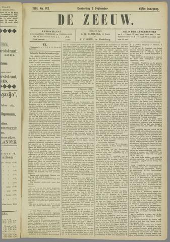 De Zeeuw. Christelijk-historisch nieuwsblad voor Zeeland 1891-09-03