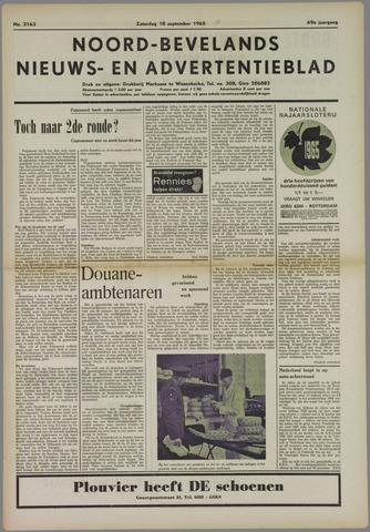 Noord-Bevelands Nieuws- en advertentieblad 1965-09-18