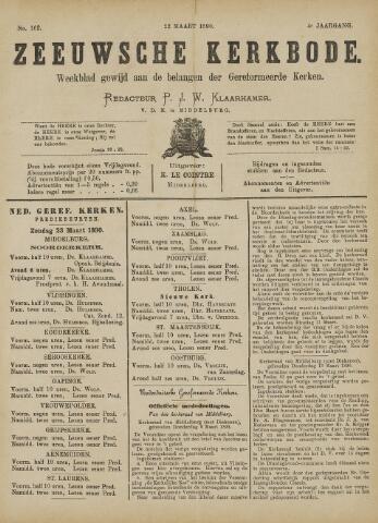 Zeeuwsche kerkbode, weekblad gewijd aan de belangen der gereformeerde kerken/ Zeeuwsch kerkblad 1890-03-22