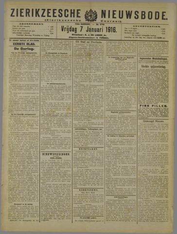 Zierikzeesche Nieuwsbode 1916-01-07