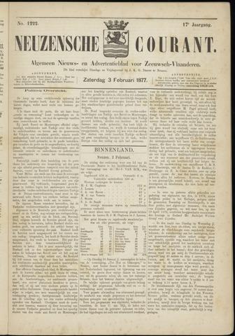 Ter Neuzensche Courant. Algemeen Nieuws- en Advertentieblad voor Zeeuwsch-Vlaanderen / Neuzensche Courant ... (idem) / (Algemeen) nieuws en advertentieblad voor Zeeuwsch-Vlaanderen 1877-02-03