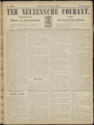 Ter Neuzensche Courant. Algemeen Nieuws- en Advertentieblad voor Zeeuwsch-Vlaanderen / Neuzensche Courant ... (idem) / (Algemeen) nieuws en advertentieblad voor Zeeuwsch-Vlaanderen 1885-02-28