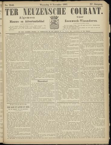 Ter Neuzensche Courant. Algemeen Nieuws- en Advertentieblad voor Zeeuwsch-Vlaanderen / Neuzensche Courant ... (idem) / (Algemeen) nieuws en advertentieblad voor Zeeuwsch-Vlaanderen 1887-11-09