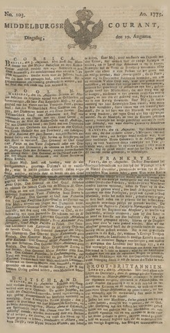 Middelburgsche Courant 1775-08-29