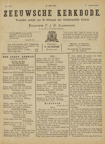 Zeeuwsche kerkbode, weekblad gewijd aan de belangen der gereformeerde kerken/ Zeeuwsch kerkblad 1889-05-25