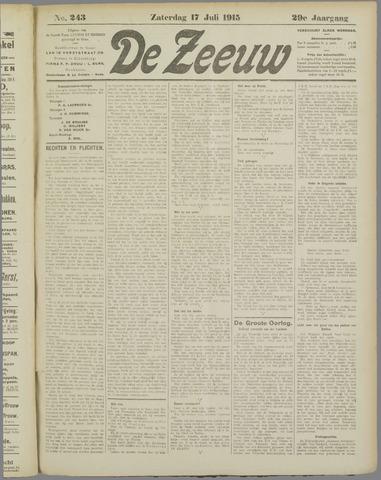 De Zeeuw. Christelijk-historisch nieuwsblad voor Zeeland 1915-07-17