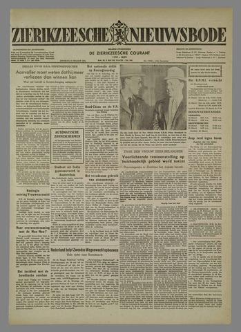 Zierikzeesche Nieuwsbode 1954-03-23