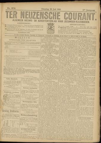 Ter Neuzensche Courant. Algemeen Nieuws- en Advertentieblad voor Zeeuwsch-Vlaanderen / Neuzensche Courant ... (idem) / (Algemeen) nieuws en advertentieblad voor Zeeuwsch-Vlaanderen 1918-07-30