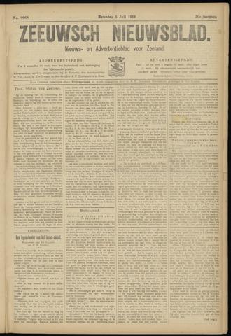 Ter Neuzensch Volksblad. Vrijzinnig nieuws- en advertentieblad voor Zeeuwsch- Vlaanderen / Zeeuwsch Nieuwsblad. Nieuws- en advertentieblad voor Zeeland 1919-07-05