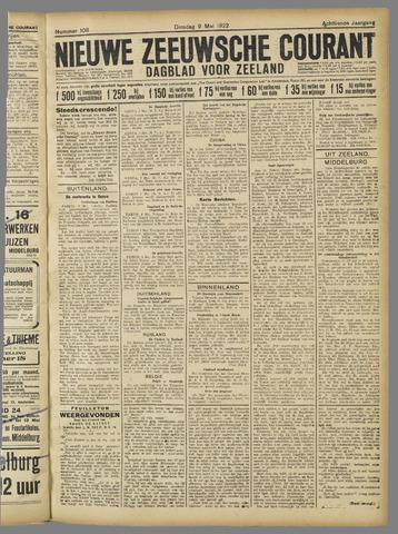 Nieuwe Zeeuwsche Courant 1922-05-09