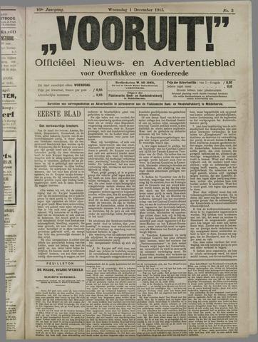 """""""Vooruit!""""Officieel Nieuws- en Advertentieblad voor Overflakkee en Goedereede 1915-12-01"""