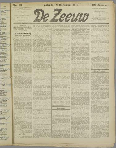 De Zeeuw. Christelijk-historisch nieuwsblad voor Zeeland 1917-12-08