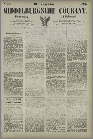 Middelburgsche Courant 1884-02-14