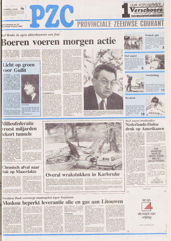 Provinciale Zeeuwse Courant 1990-04-18