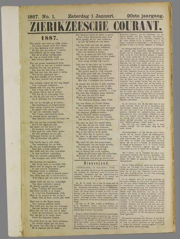 Zierikzeesche Courant 1887