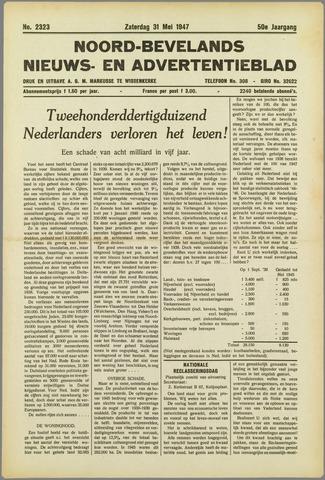 Noord-Bevelands Nieuws- en advertentieblad 1947-05-31