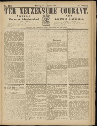 Ter Neuzensche Courant. Algemeen Nieuws- en Advertentieblad voor Zeeuwsch-Vlaanderen / Neuzensche Courant ... (idem) / (Algemeen) nieuws en advertentieblad voor Zeeuwsch-Vlaanderen 1897-08-17