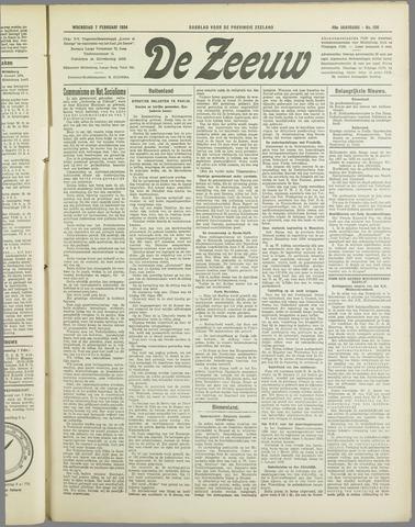 De Zeeuw. Christelijk-historisch nieuwsblad voor Zeeland 1934-02-07
