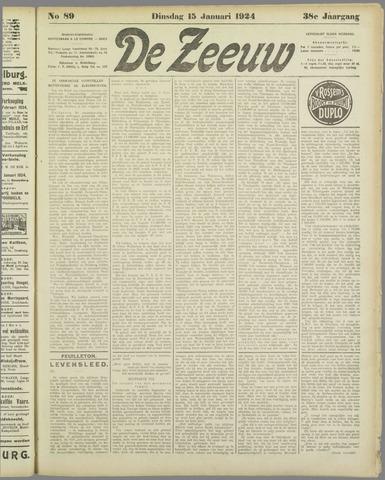 De Zeeuw. Christelijk-historisch nieuwsblad voor Zeeland 1924-01-15