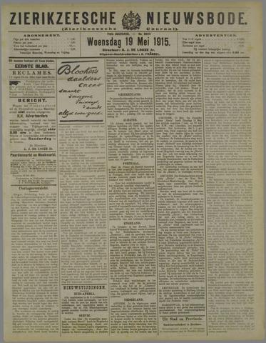 Zierikzeesche Nieuwsbode 1915-05-19
