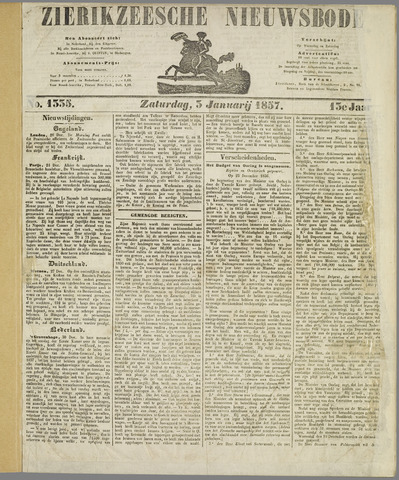 Zierikzeesche Nieuwsbode 1857