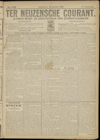 Ter Neuzensche Courant. Algemeen Nieuws- en Advertentieblad voor Zeeuwsch-Vlaanderen / Neuzensche Courant ... (idem) / (Algemeen) nieuws en advertentieblad voor Zeeuwsch-Vlaanderen 1918-01-24