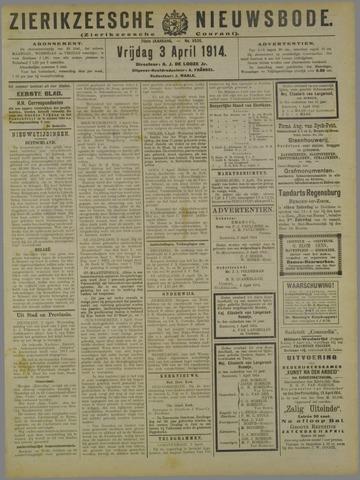 Zierikzeesche Nieuwsbode 1914-04-03